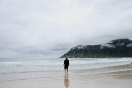 Man on beach Mak Gis